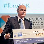 El Sr. De Guindos en el Encuentro Empresarial Hispano-Alemán