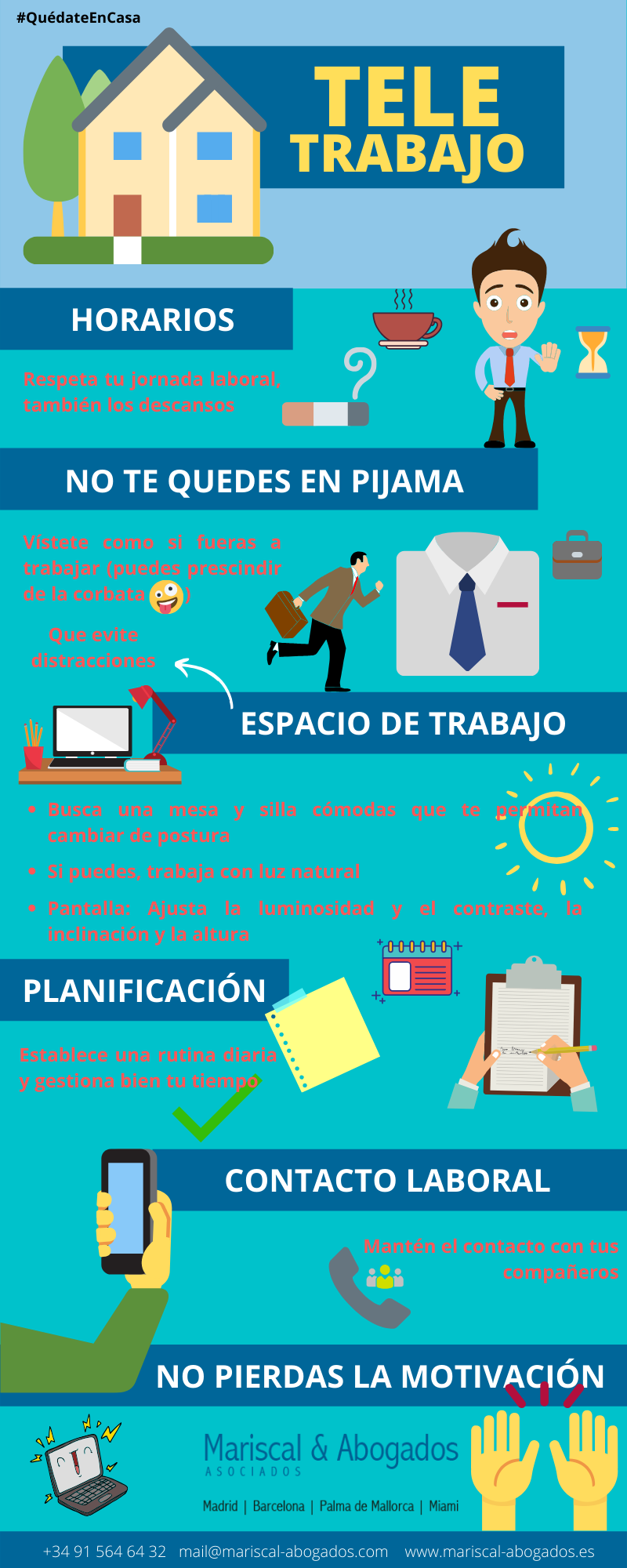 06 2020 Consejos Teletrabajo Mariscal & Abogados